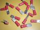 lattaliitin uros - punainen 6.3mm ( 0.25 - 1mm² johdolle )
