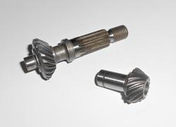 """kulmavaihteen rataspari - Stihl """"original"""" FS160, FS180, FS400, FS450, FS480, ym"""