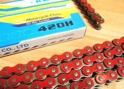 ketjut 420 KMC, 140 lenkkiä - vahvistettu punainen