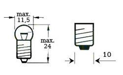 polttimo 6V 3W, kierrekiinnitys