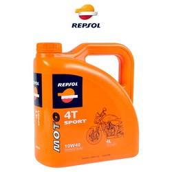 Repsol - Moto Sport 4T 10W40, 4 litraa ( synteettinen )
