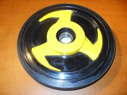 telapyörä - Yamaha ( 178mm / 20mm ) musta/keltainen