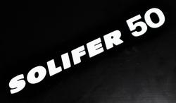 """sivuposken tarra """"SOLIFER 50"""" -  Suzuki PV50"""