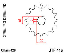 ketjuratas etu ( JT 416 ) 14z