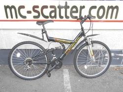 """Mantis Universal 26"""" polkupyörä - musta/keltainen ( 18-vaihteinen )"""