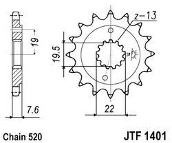 ketjuratas etu ( JT 1401 ) 15z