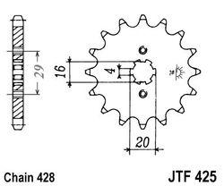 ketjuratas etu ( JT 425 ) 16z