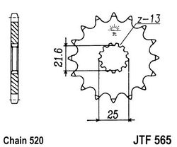 ketjuratas etu ( JT 565 ) 15z