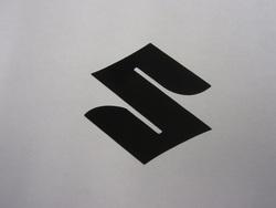 tarra Suzuki logo, musta