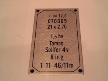 tyyppikilpi Solifer 4-speed 70-71