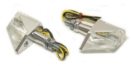 vilkkupari alumiinirungolla, LED kirkas