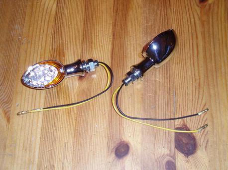 vilkkupari LED kirkas/oranssi