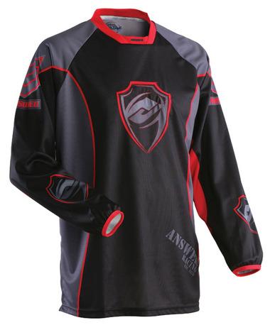 Answer Racing - Mode paita, musta/harmaa/punainen