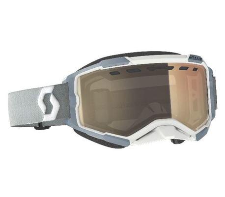ajolasit - Scott Fury Snow Cross - white/grey, bronze chrome