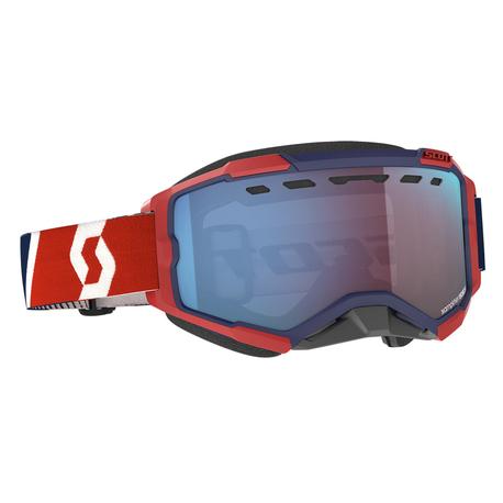 ajolasit - Scott Fury Snow Cross - red/blue, blue chrome