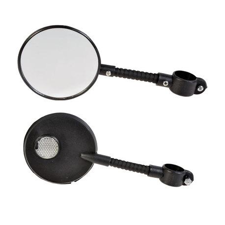 Peili pyöreä heijastimella, musta