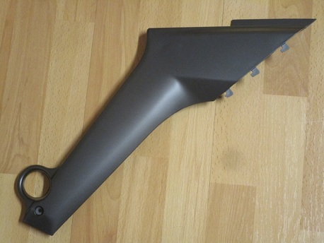 rungon suoja, vasen - Keeway TX50 - hopeanharmaa