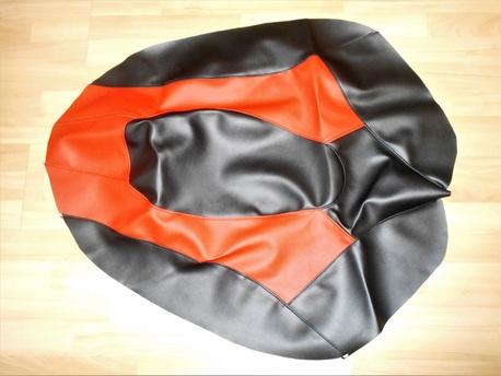 istuimen verhoilu - Yamaha Nytro ´08-13 ( musta/punainen )
