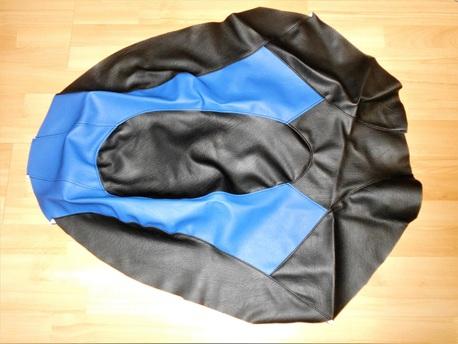 istuimen verhoilu - Yamaha Nytro ´08-13 ( musta/sininen )