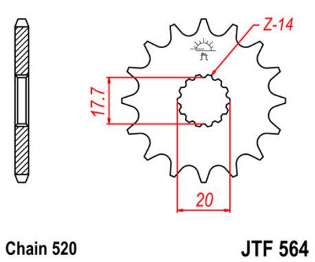 ketjuratas etu ( JT 564 ) - 12z