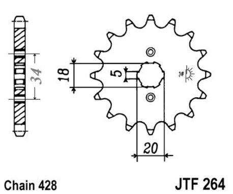 ketjuratas etu ( JT 264 ) 14z