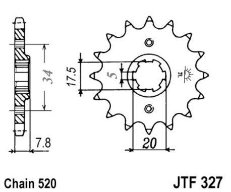 ketjuratas etu ( JT 327 ) 12z