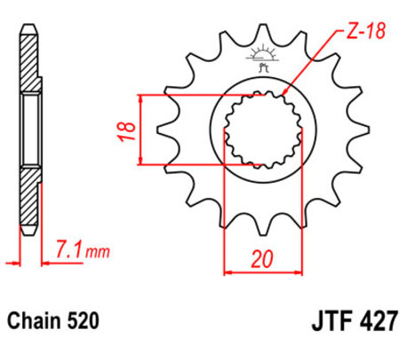 ketjuratas, etu ( JT 427 ) 11z
