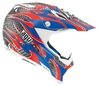 AGV AX-8 Evo - Flame red/blue