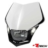 valomaski - Racetech V-Face LED - valkoinen