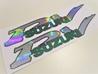 Suzuki PV tankintarrat - kameleontti kromi/vihreä